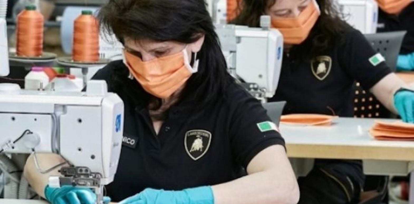 Lamborghini принялась шить медицинские маски