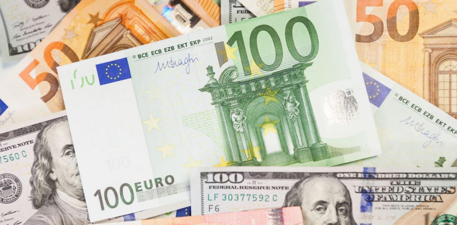 Курс евро снова упал после двухдневного роста